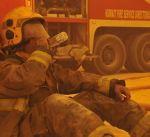 """4 فرق للإطفاء سيطرت على حريق اندلع في سوق الأعلاف بـ""""رحية"""""""