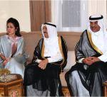 سمو أمير البلاد يحضر مأدبة عشاء أقامها سفير الكويت لدى الصين على شرف سموه