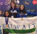 """فتيات منتخب الكويت للـ""""فيغر"""" يحرزن 4 ميداليات ذهبية جديدة في البطولة الآسيوية"""