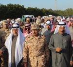تشييع شهيد الواجب الملازم عبدالرحمن العنزي في مقبرة الشهداء بالصليبخات