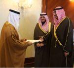 وزير الخارجية يتسلم نسخة من اوراق اعتماد السفير الاماراتي لدى البلاد