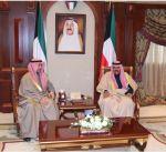 سمو ولي العهد يستقبل رئيس مجلس الأمة الكويتي
