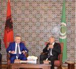 امين عام الجامعة العربية ورئيس البانيا يبحثان تطورات الأوضاع في المنطقة