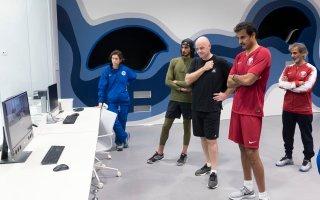 صاحب السمو الشيخ تميم بن حمد آل ثاني يزور مركز تطوير مهارات كرة القدم
