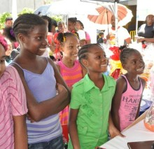 "dental clinic/health fair sponsored by ""Brush Up Jamaica"""