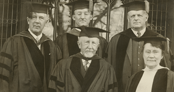 President Woolley and four College trustees