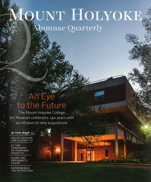 Alumnae Quarterly cover - Fall 2016