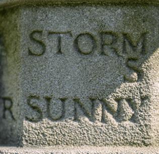Sundial beside Abbey Chapel