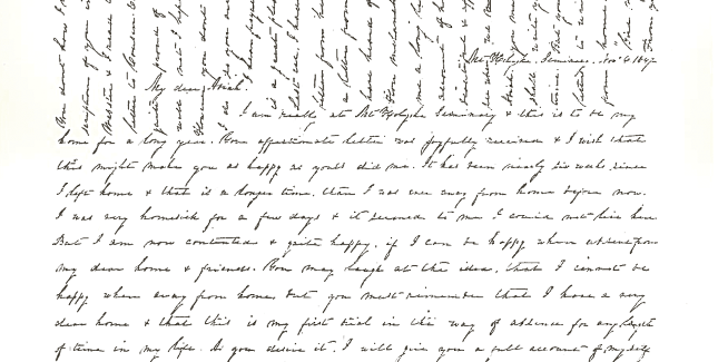 Emily Dickinson Letter