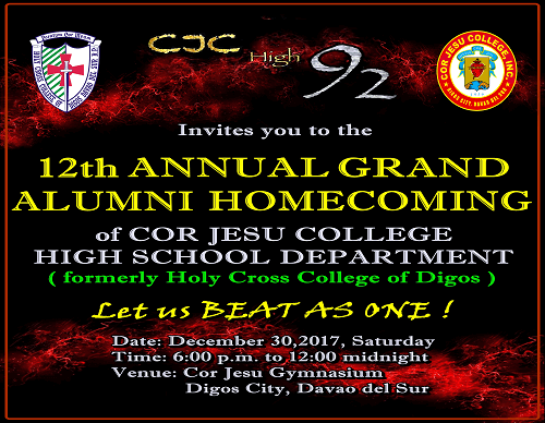 High School Batch 1992 to host 2017 Homecoming