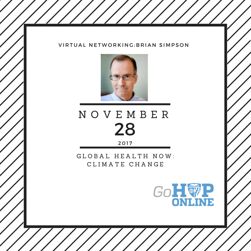 Virtual Networking|Global Health NOW: Climate Change