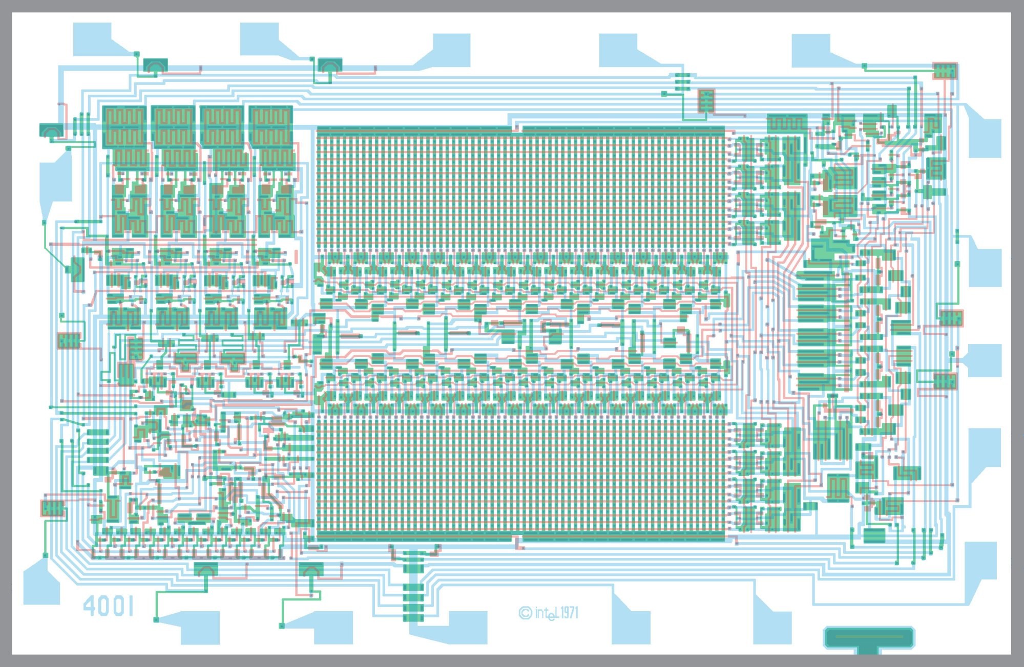 hight resolution of the 4001 mask programmable rom