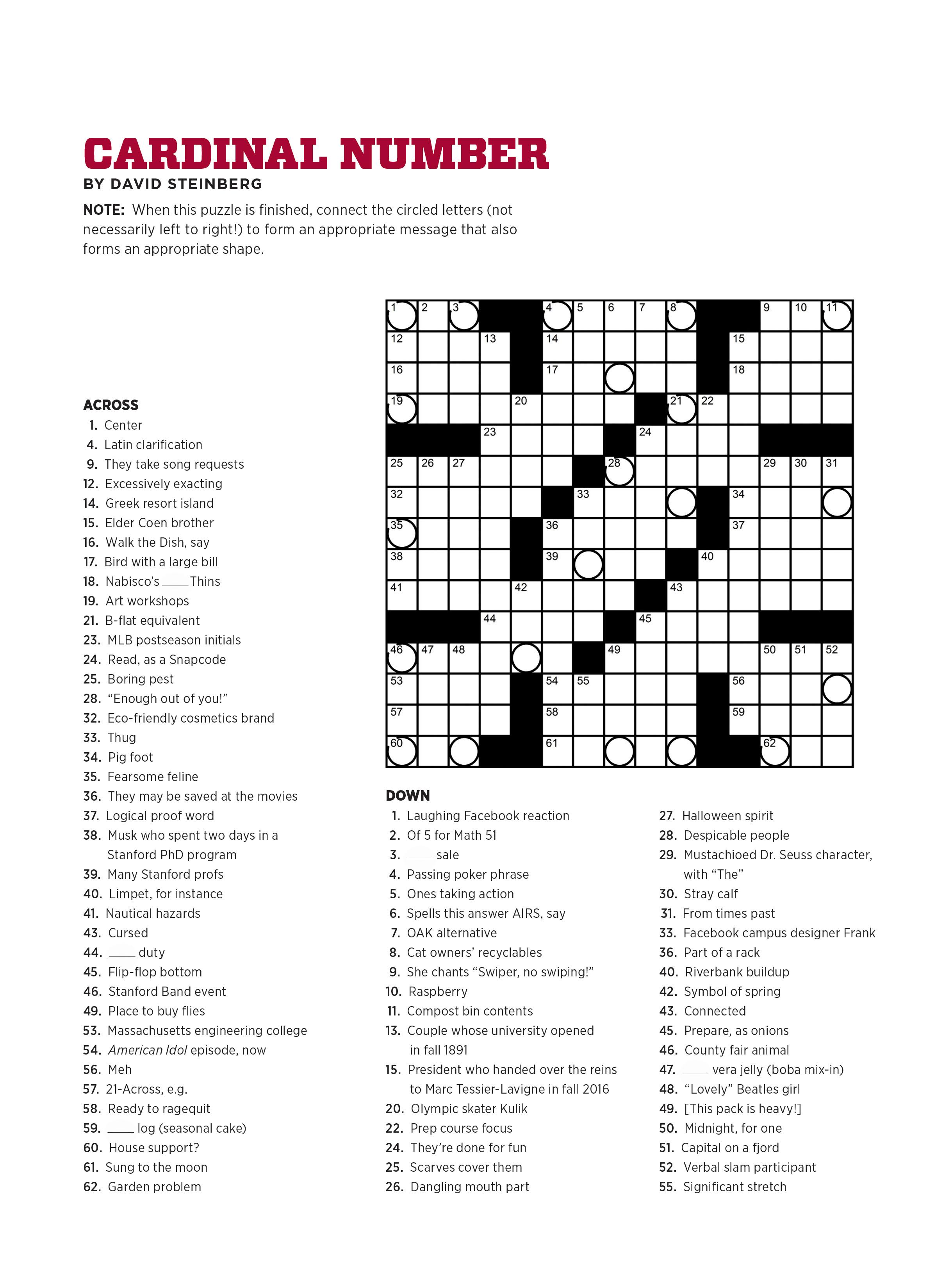 Form Crossword Puzzle