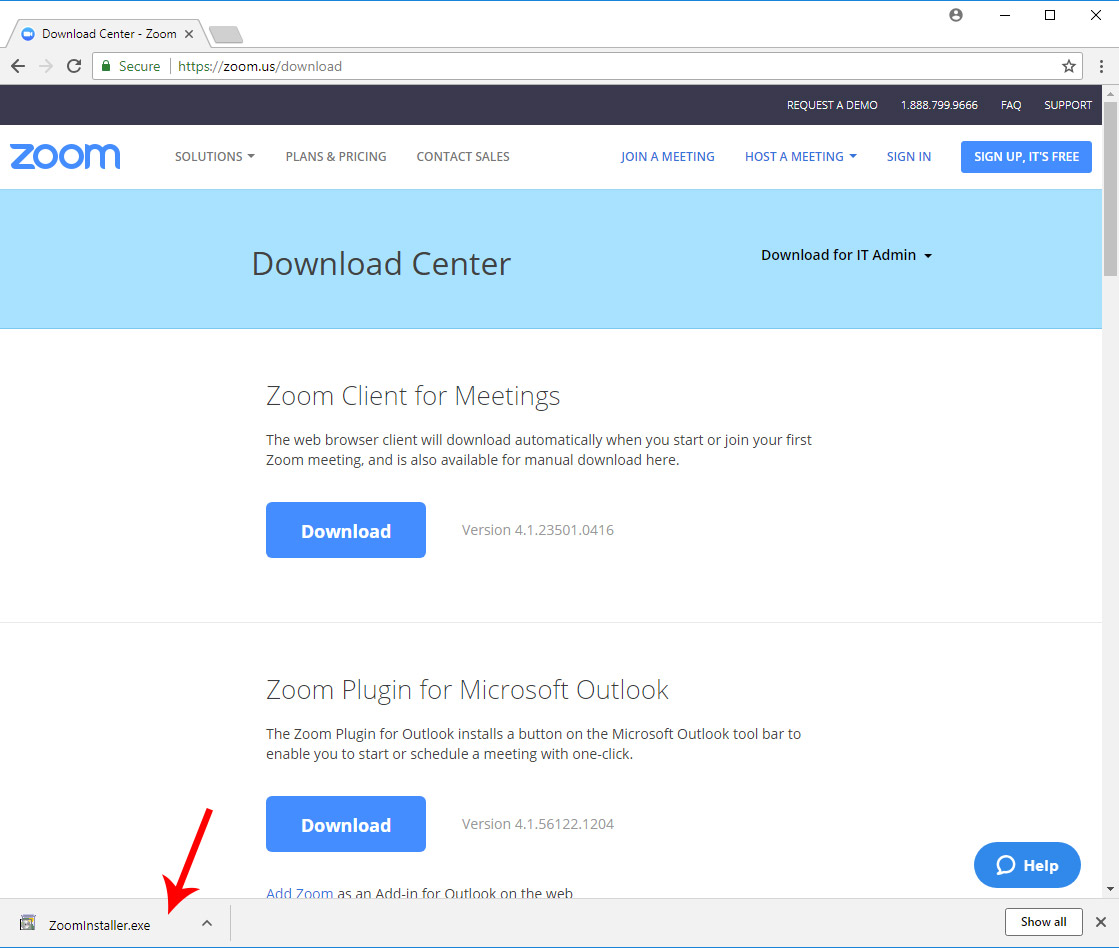 Steps to install and run Zoom Client for Meetings
