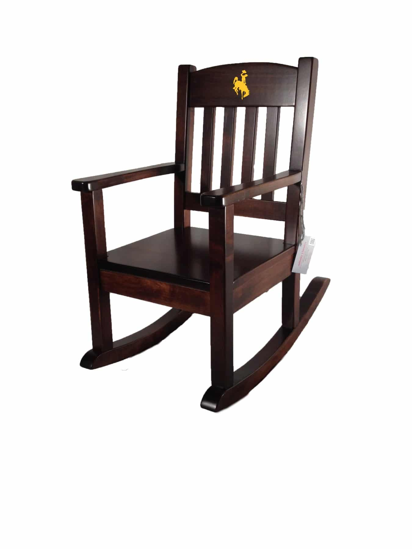 Rocking Chairs University Of Wyoming Affinity Child Rocking Chair Acrc Gold Steamboat Logo