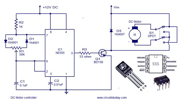 Schematic 1024x541 Pwm Motor Controller Fan Speed Automatically Using