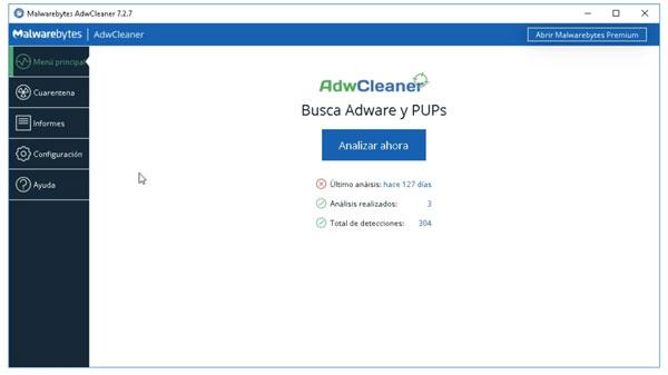 Busca Adware y PUPs con AdwCleaner