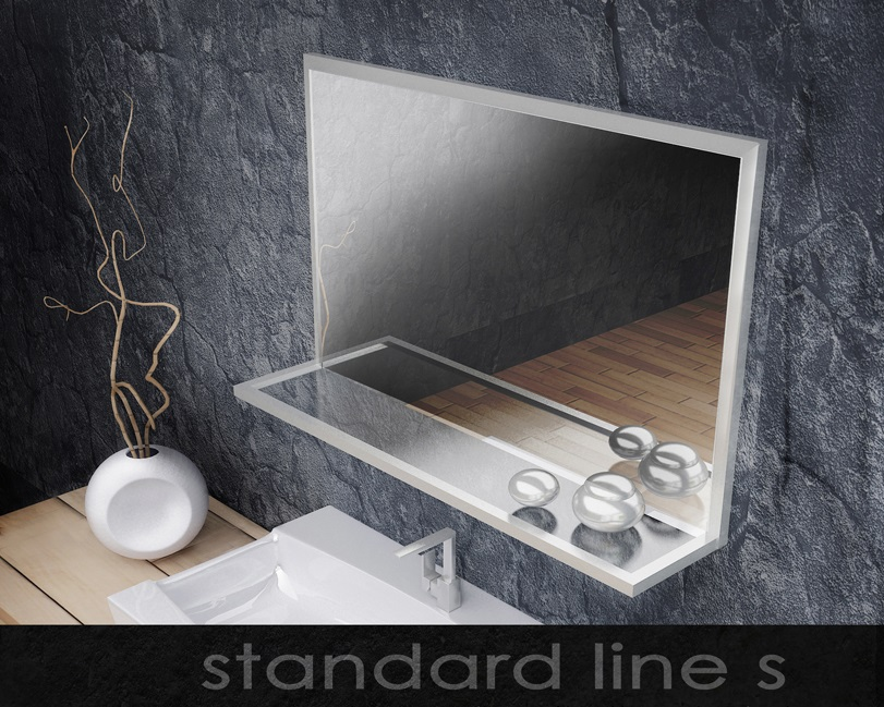 LED Illuminated Mirrors  Aluminum Glass Cabinet Doors