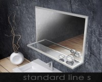 LED Illuminated Mirrors  Aluminum Glass Cabinet Doors