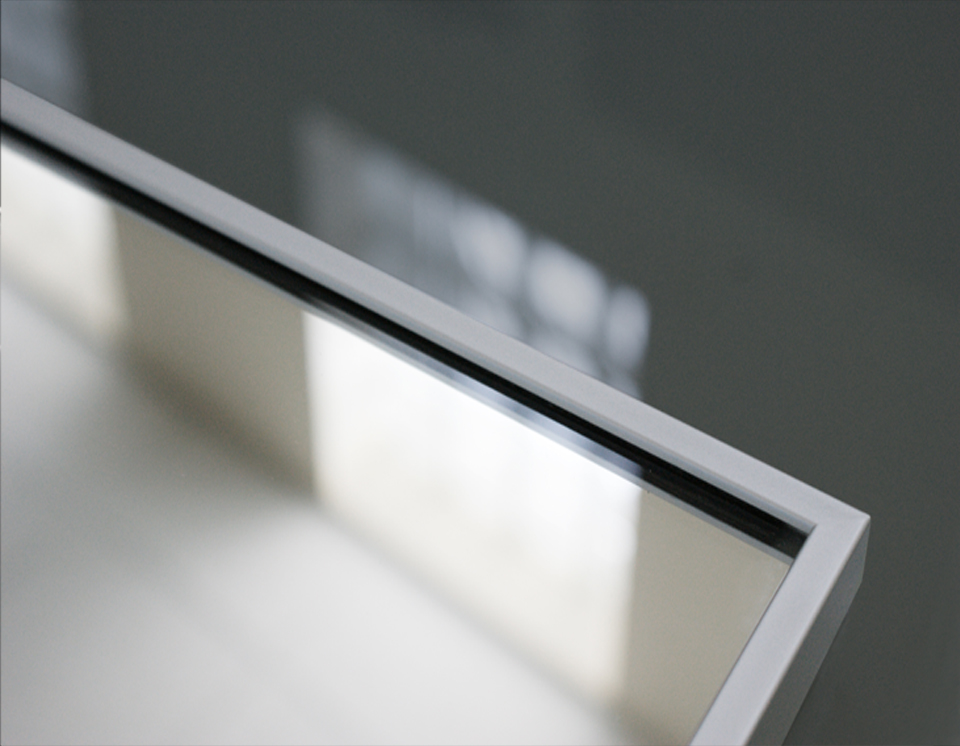 Mirror Glass  Aluminum Glass Cabinet Doors