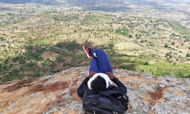 Hiking Nzaui Hills, Makueni County.