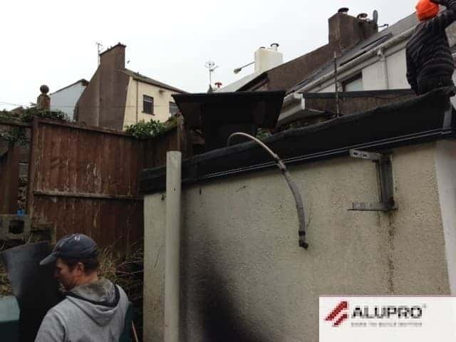 Downpipes Removed and Repaired Cork