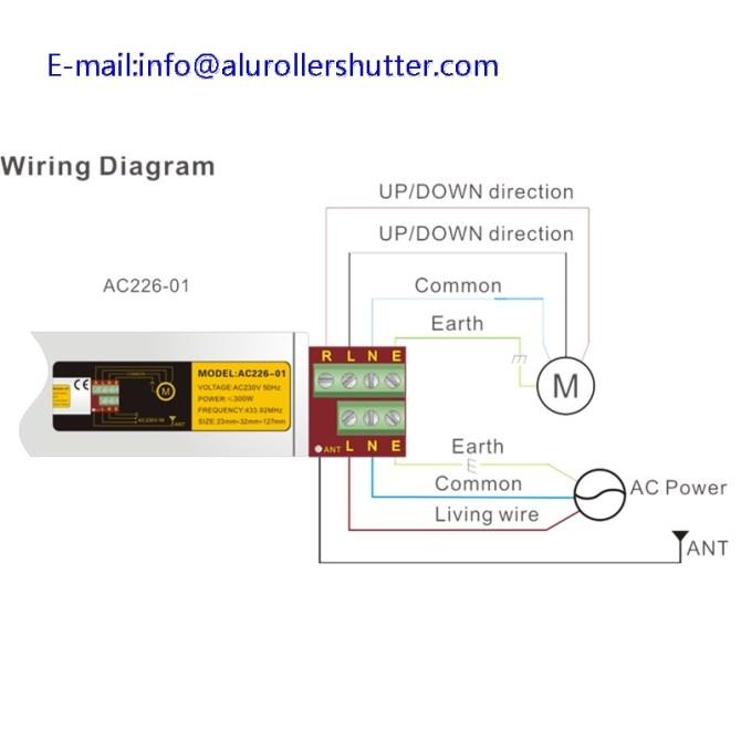 ac22601 roller shutter tubular motor controller remote