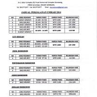 JADUAL PENERBANGAN UMRAH 2014