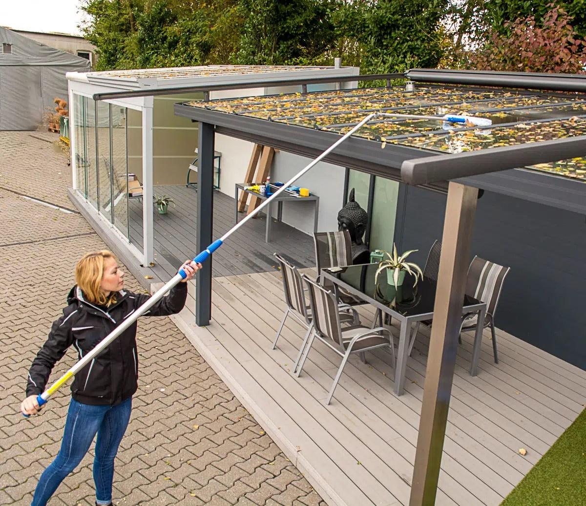 Terrassendach Pflege