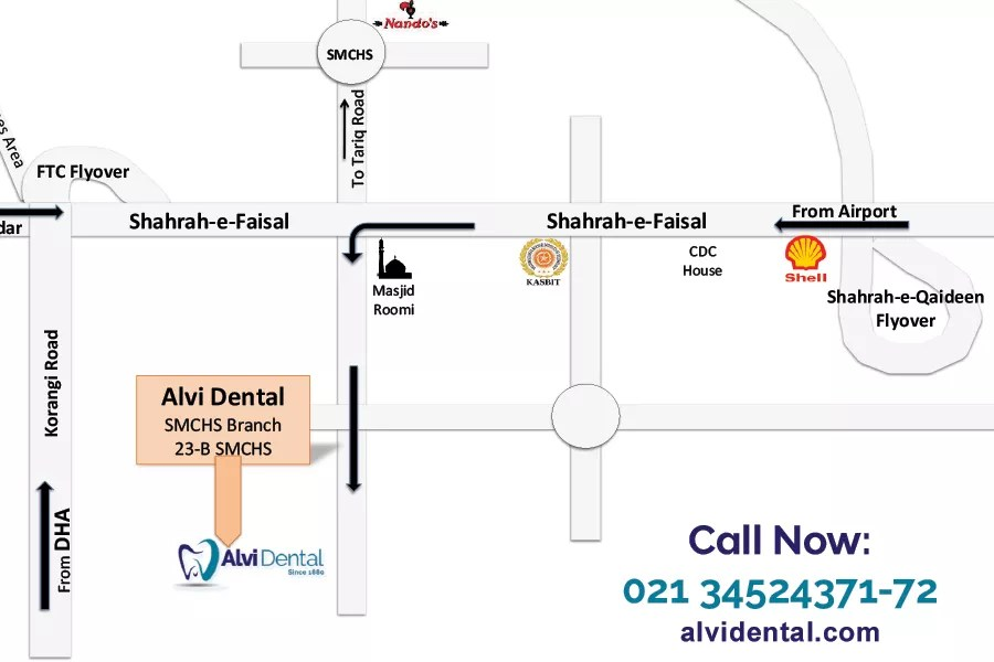 Alvi Dental SMCHS Map