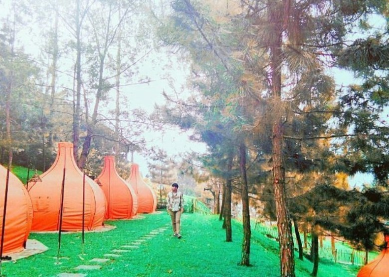 Camping Ground di The Lodge Maribaya