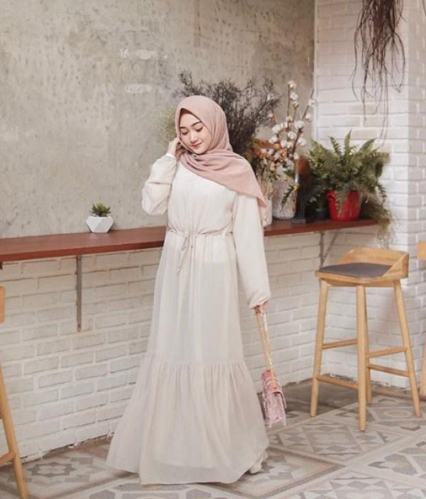 Model Baju Gamis Busana Lebaran Bahan Nyaman Modern Kekinian Simple