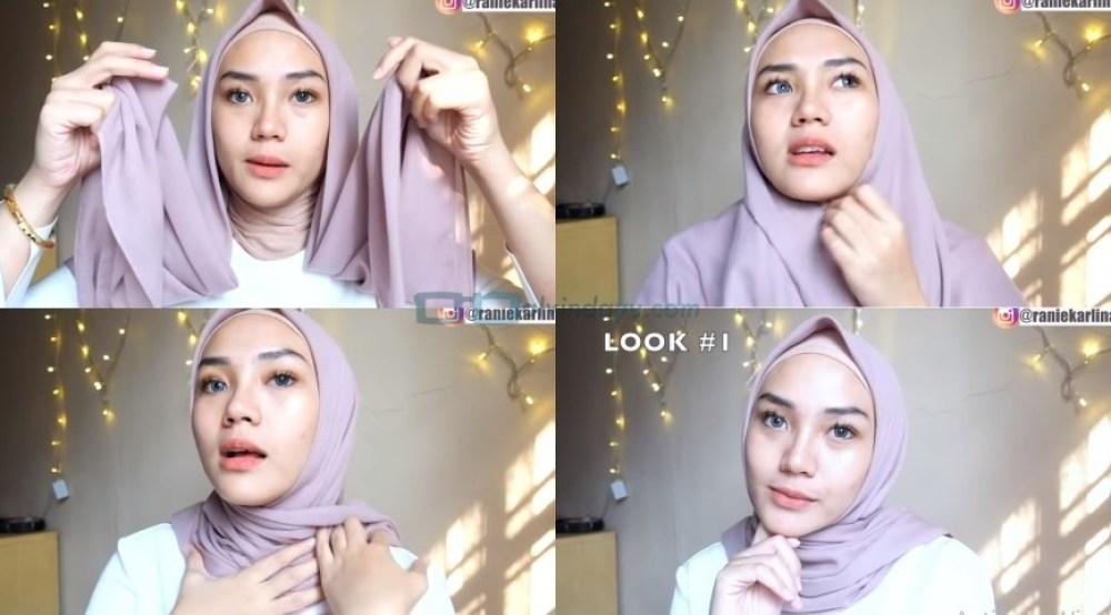 Cara Memakai Hijab Segi Empat Simple dan Mudah Sederhana
