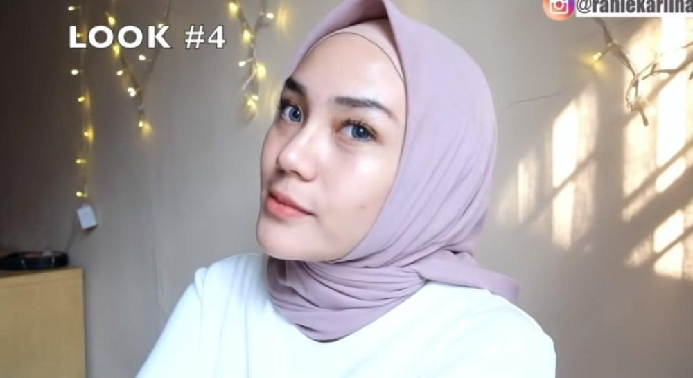 Cara Memakai Jilbab Segi Empat Sederhana untuk Wajah Bulat SELESAI