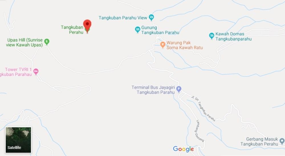Lokasi dan Alamat Tangkuban Perahu Bandung