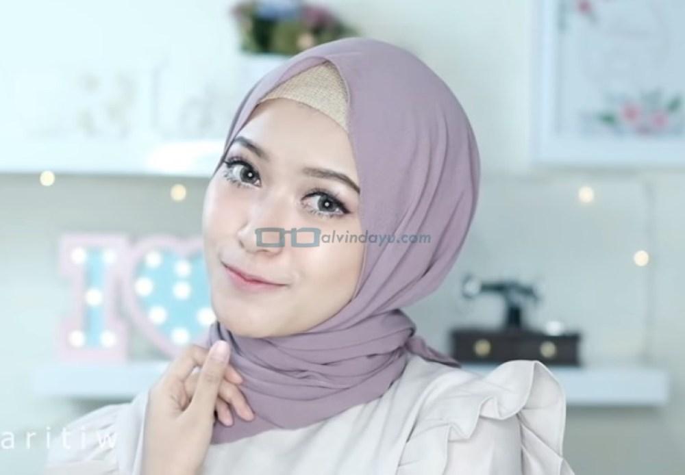 Tutorial Hijab Pashmina Pesta Simple Tanpa Jarum Pentul SELESAI