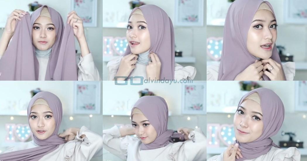 Tutorial Hijab Pashmina Pesta Simple Tanpa Jarum Pentul
