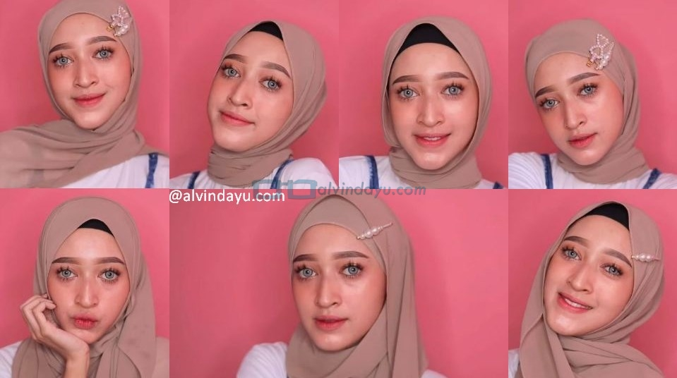 8 Tutorial Hijab Pashmina Simple Dan Mudah Kekinian Pas Untuk Remaja Dyah Ayu Alvinda