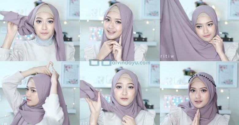 Tutorial Hijab Pashmina Tali Tanpa Ciput