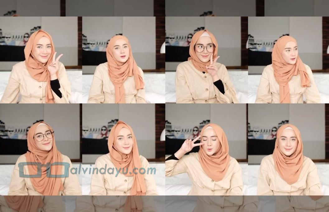 Tutorial Hijab Pashmina Simple untuk Kuliah