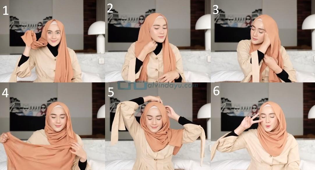 Tutorial Hijab Pashmina Simple untuk Remaja Kuliah