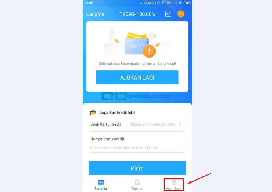Beranda Aplikasi Uangme