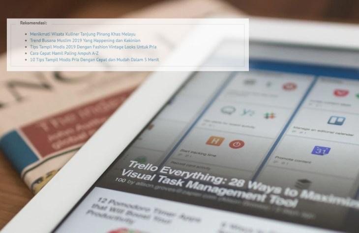 Cara Membuat Baca Juga di Blog Wordpress Rekomendasi Berdasarkan Tag