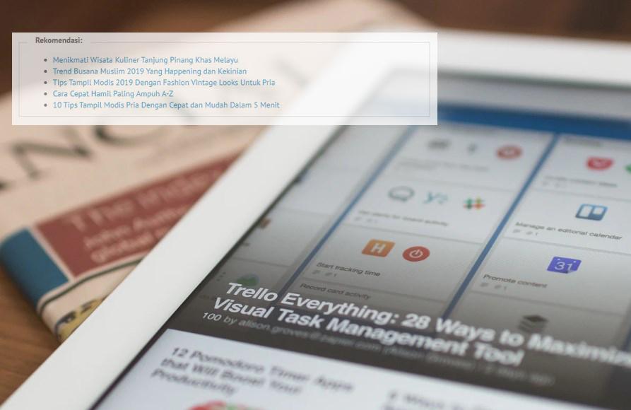 Cara Membuat Baca Juga di Blog WordPress Rekomendasi Berdasarkan #Tag