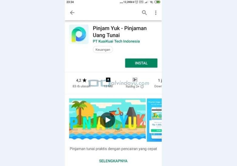 Instal Aplikasi Pinjam Yuk