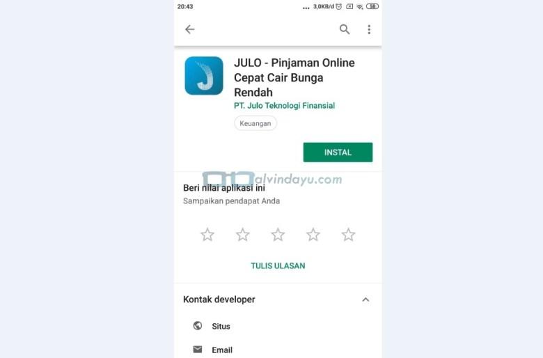 Install Aplikasi Julo