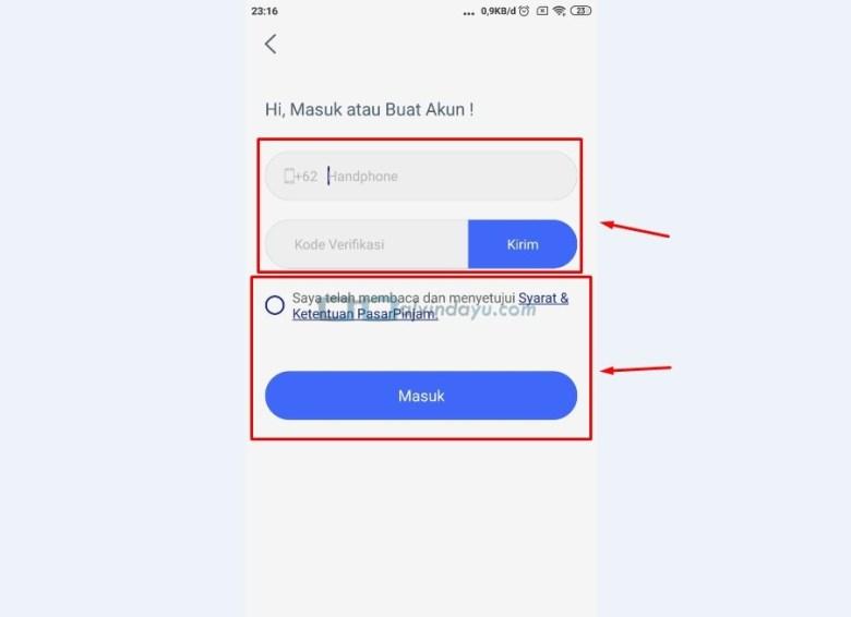 Registrasi Buat Akun atau Masuk