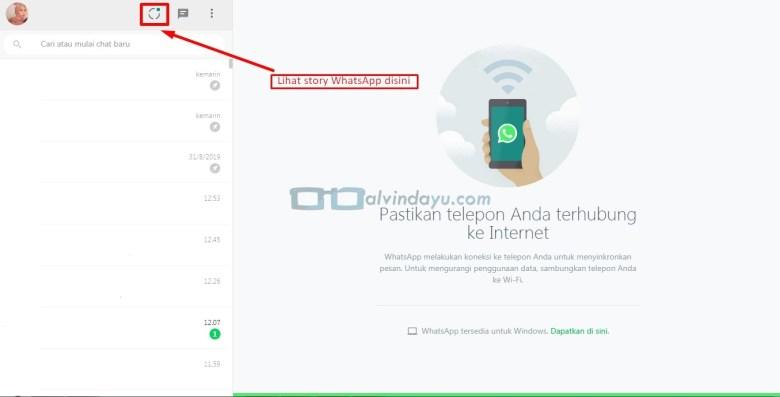 Story WhastApp Web