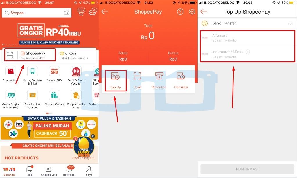 Berita Update Cara Mengisi Shopeepay di Indomaret dan Alfamart