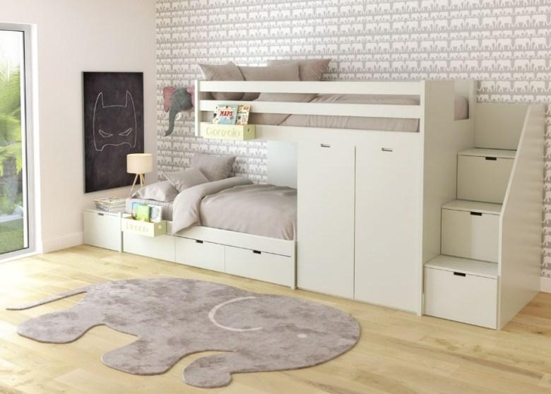 Furniture Minimalis Multifungsi Kamar Tidur Lemari dan Laci
